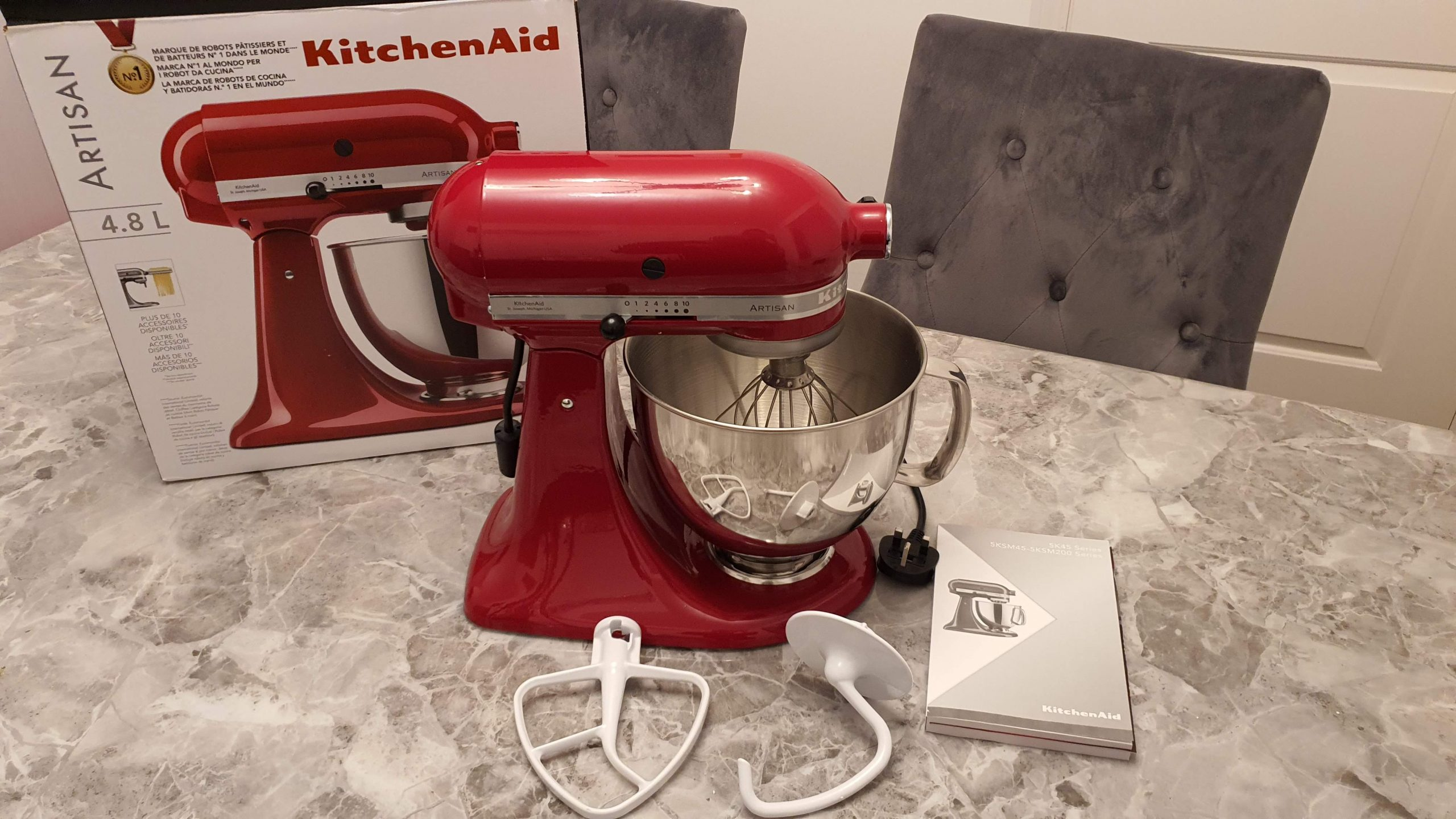 KithenAid Artisan 5KSM125 Mixer Tilt-Head 4.8L